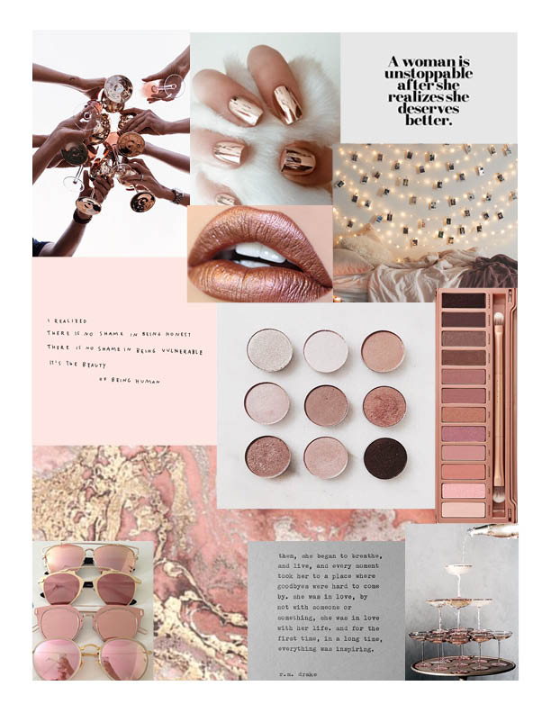 Makeup Brand Mood Board 2016